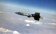 X-15 Hypersonic Research Aircraft in flight.