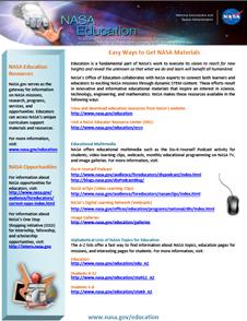nasa education materials - photo #5