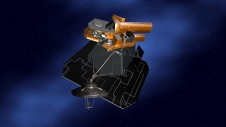 Artist's concept of NASA's Deep Impact spacecraft