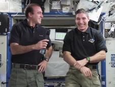 Rick Mastracchio and Mike Hopkins