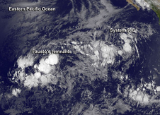 Fausto's remnants in the Eastern Pacific