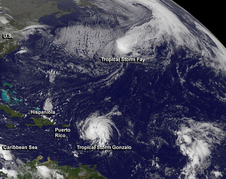 GOES image of Gonzalo