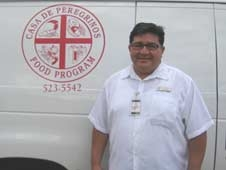 Lorenzo Alba, Executive Director of Casa de Peregrinos Emergency Food Bank.