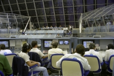 Firing Room 1 as it appeared during the countdown for the first space shuttle mission in April 1981