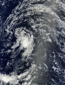 satellite image of Flossie near Hawaii