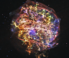 At a distance of about 20,000 light years, G292.0+1.8 is one of only three supernova remnants in the Milky Way known to contain large amounts of oxygen.