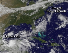GOES image of Gabrielle