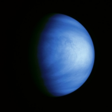 Venus shown in false color to highlight cloud markings