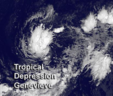 Tropical Depression Genevieve