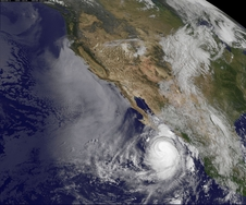 This visible image of Hurricane Norbert was taken from NOAA's GOES-West satellite at 7:45 a.m. PDT on Sept. 5, 2014.