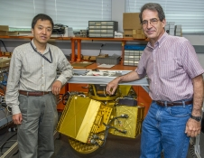 Engineer Lihua Li and Scientist Gerry Heymsfield have been working on the HIWRAP radar since 2005.