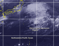 Extra-tropical depression Hagibis