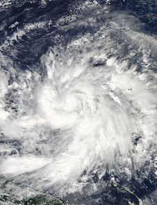 Tropical Storm Hagupit was taken on by the MODIS instrument