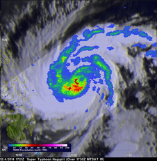 TRMM image of Super Typhoon Hagupit on December 4, 2014