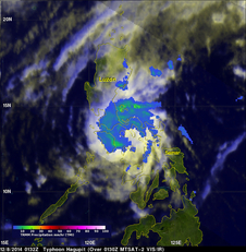 TRMM's pass over Hagupit on Dec. 8