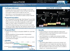 NanoTHOR: Low-Cost Launch of Nanosatellites to Deep Space