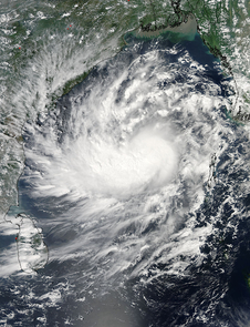 MODIS image of Hudhud