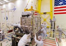 GOES-R being assembled