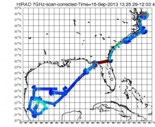 HIRAD data stream from the Hurricane Ingrid flight on Sept. 15