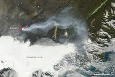 Terra image of the Bardarbunga eruption