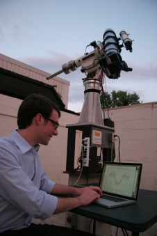 Brett Morris using OSCAAR at the University of Maryland Observatory
