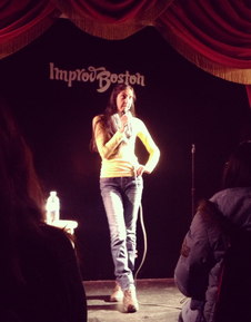 Patel during a showcase at ImprovBoston from December 2013
