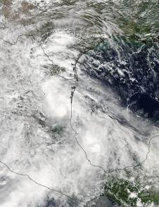 MODIS image of Ingrid