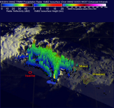 TRMM was used to create a 3-D image of the storm looking north.