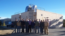 Optical Payload for Lasercomm Science (OPALS) team members at the Optical Communications Telescope Laboratory ground station at the Table Mountain Observatory in Wrightwood, California.