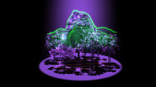 artist concept of lidar observations of forest canopy