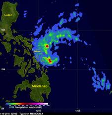 GPM sees rainfall rate for Mekkhala