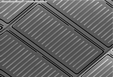 gray panels revealed in a microscope view