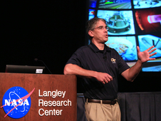 Michael Gazarik gave students an overview of NASA's technology development efforts and encouraged them to consider joining the NASA team.