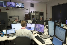 Controllers in the MIL-71 control room.