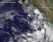 GOES-West satellite image of Tropical Storm Norbert 2-Sep-2014