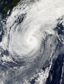 NASA's Aqua satellite captured a visible picture of Typhoon Nuri