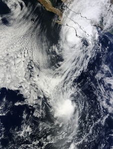 Tropical Storms Octave and Priscilla