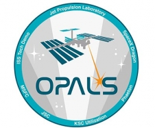 Optical Payload for Lasercomm Science (OPALS) emblem.