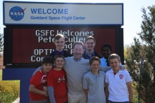 Peter Cullen and OPTIMUS PRIME contest winners at NASA Goddard