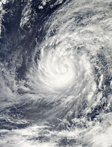 NASA's Aqua satellite captured this image of Typhoon Phanfone