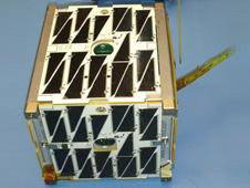 Alexander PhoneSat 2.0b with solar panels.