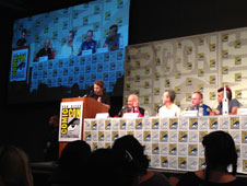 On the 45th Anniversary of Apollo 11's return to Earth, actor Seth Green moderated a Comic-Con panel with Apollo 11 astronaut Buzz Aldrin, Planetary Division Director Jim Green, NASA astronaut Mike Fincke and NASA Jet Propulsion Laboratory Systems Engineer Bobak Ferdowsi.