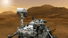 Artist's Concept of Mars rover Curiosity