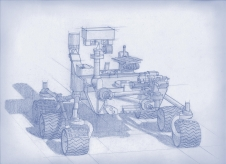 Drawing of 2020 Mars rover
