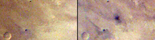 This pair of images taken one day apart by the Mars Color Imager (MARCI) weather camera