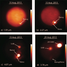 These images show Jupiter's moon Io