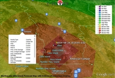 A strain magnitude map of the Aug. 24, 2014 Napa California quake