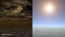 Artist's concept of two skies