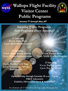NASA Visitor Center Public Programs Flyer