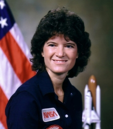 Sally Ride's official astronaut portrait. She joined the astronaut corps in 1978.